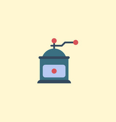flat icon mocha grinder element vector image vector image