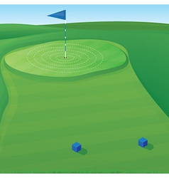 Golf Target vector image vector image