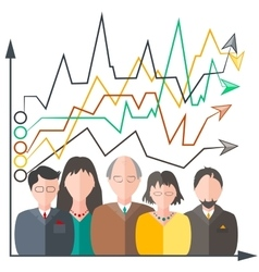 Graphic and people flat style vector image vector image