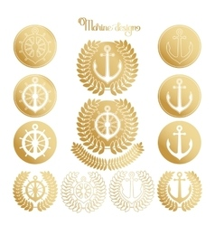 Graphic nautical emblem vector image vector image
