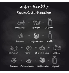 Healthy smoothie recipes in pictures vector image