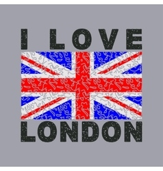 i love London City typography graphics vector image vector image