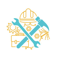 icon of tools on labor day vector image