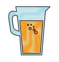 juice glass pot icon vector image