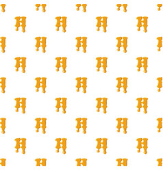 letter h from honey pattern vector image
