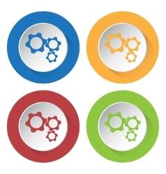 set of four icons - three cogwheel vector image vector image