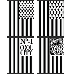 Set of various Made in the USA graphics and labels vector image vector image