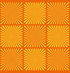 set of yellow rays retro vector image vector image
