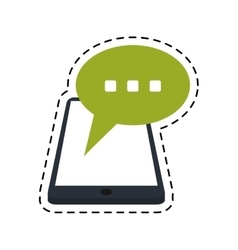 smartphone bubble speech chat communication dot vector image vector image