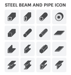 Steel pipe beam vector