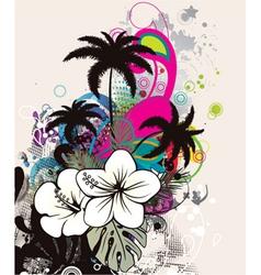 summer grunge background vector image