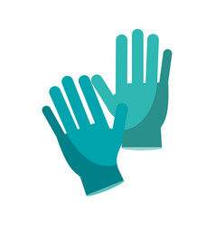 Surgery glove medical protective vector