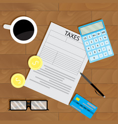 Tax calculate business vector
