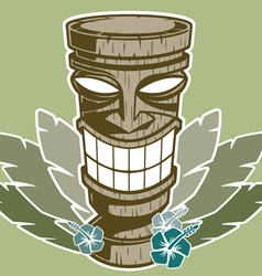 tiki statue vector image vector image