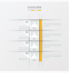 timeline report design template yellow color vector image
