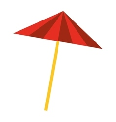 umbrella to cocktail isolated icon vector image
