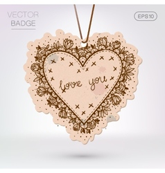 Vintage styled frame with love confession vector
