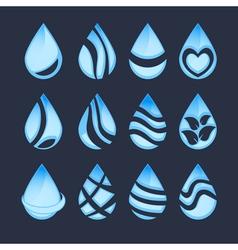 Water drop symbols vector
