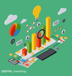 Digital marketing management concept vector image