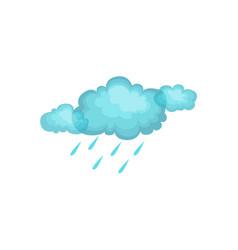 Rain and cloud as autumn attribute vector