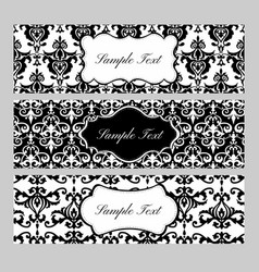 Labels on damask background vector