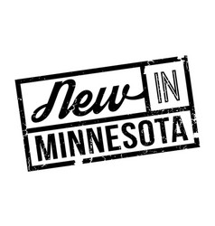 new in minnesota rubber stamp vector image