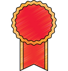 Empty award ribbon vector