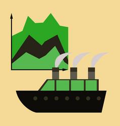 flat icon on stylish background cruise ship vector image