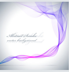 Abstract blue colored smoke background vector