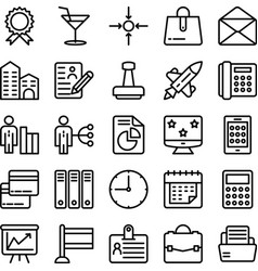 business and office line icons 18 vector image