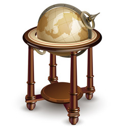 Old globe vector