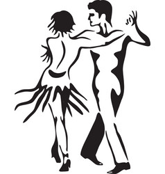 Latin dance rumba dancing couple vector