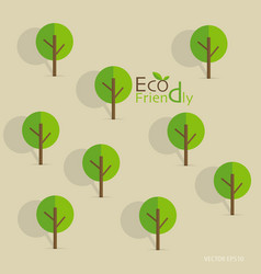 Cute seamless pattern with abstract trees and word vector