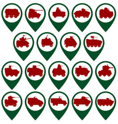 Badges with armored vehicles vector image