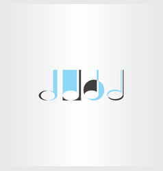 Musical note logo set element vector