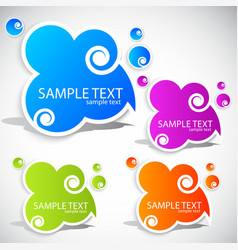 Paper cloud bubble for speech vector