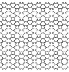 Abstract ethnic lace seamless pattern vector image