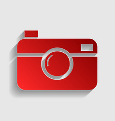 Digital photo camera sign vector
