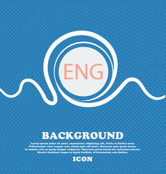 English sign icon great britain symbol blue and vector