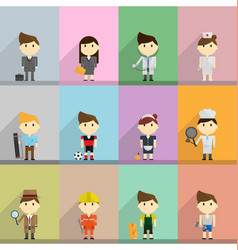 Occupation flat cartoon vector