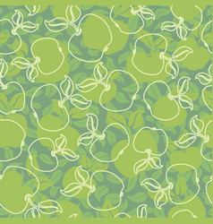 abstract apples vector image vector image