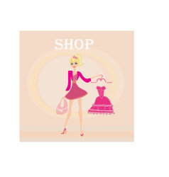beautiful women Shopping vector image