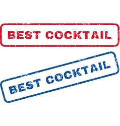 Best Cocktail Rubber Stamps vector image