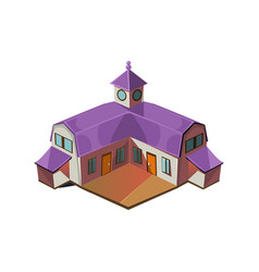 Big farm house simplified cute vector