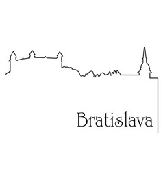 bratislava city one line drawing background vector image vector image