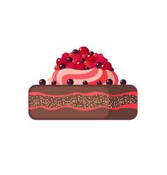 Cake icon on white background vector image