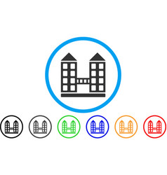 company building rounded icon vector image