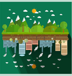 different of environmentally landscape vector image
