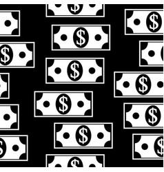 Dollar icons seamless pattern on white vector