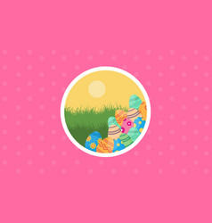 Easter egg backgrounds vector